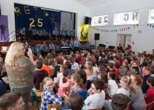 Rathfarnham Educate Together National School celebrate their 25th anniversary recently. Photo: Peter Houlihan